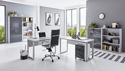 moebel-dich-auf.de Büromöbel Set TABOR PRO 1 in diversen Farbvarianten (lichtgrau/anthrazit Hochglanz)