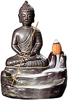 Ridecle Buddha Backflow Incense Burner Figurines Statues