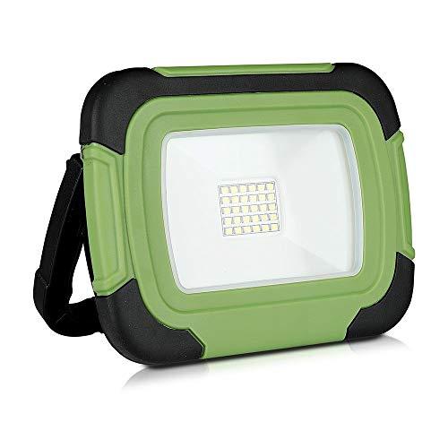V-tac VT-20-R LED Bouwlamp/Werklamp op accu - 20W - 6400K - Groen