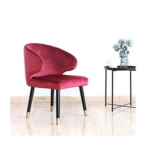 Schreibtischstuhl, Stuhl Bürostuhl, Massivholzstuhl, Metallbeine Wohnzimmerstuhl, Küchenstühle, Sessel, Wohnzimmer Lounge Freizeitstühle, Wannenstuhl, mit Rückenlehne und Armlehnen, Einfacher Stil-Ro