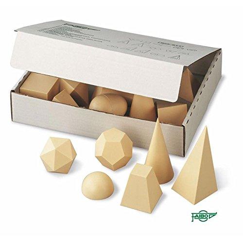Cuerpos Geométricos En Plástico Imitación Madera