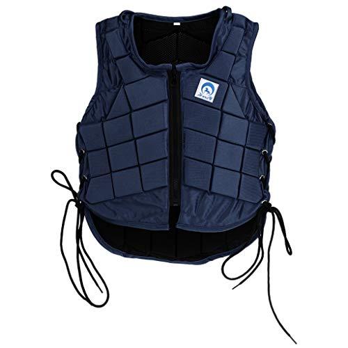 Fityle Chaleco Protector Corporal De Equitación, Equipo De Seguridad para Niños Y Adultos, Negro - Niños, cl