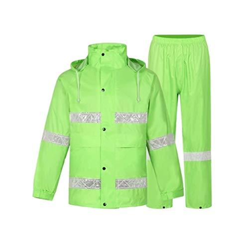 Goquik regenjas poncho volwassen regenjas Split pak reflecterende ademende waterdichte gewatteerde regenjas Unisex, geschikt voor camping/wandelen/reizen/picknick