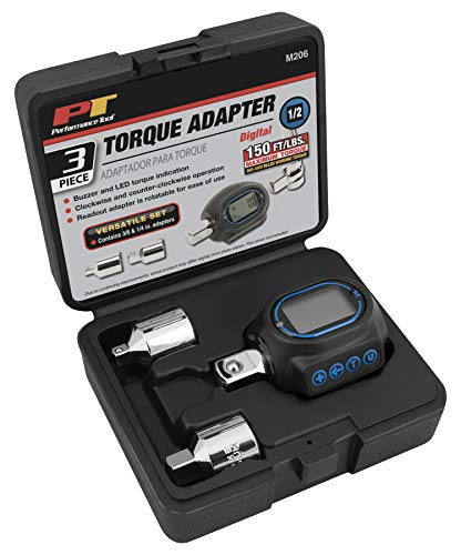 Performance Tool M206 Digital Torque Adapter (1/2'' Drive & includes adapters for 3/8'' and 1/4'')