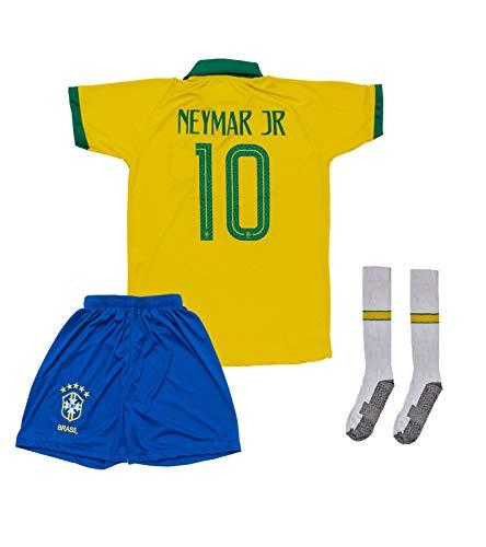 ATB Brasilien 2019/2020#10 Neymar Heim Kinder Fußball Trikot und Shorts mit Socken Kinder und Jugend Größe