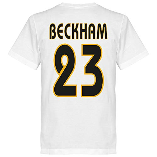 Galácticos Madrid Beckham 23 Team T-Shirt - weiß - XL