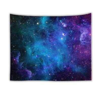 KHKJ Romántico Galaxy Hippie Tapiz Colgante de Pared Mandala Cielo Estrellado Tapiz psicodélico Tela de Pared Alfombra decoración A11 95x73cm