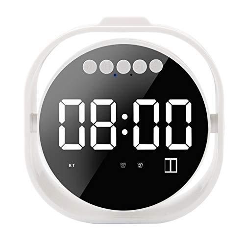 Glomixs Alarm Clock Mini Mirror Bluetooth Speaker LED Screen Support Card Wireless Subwoofer