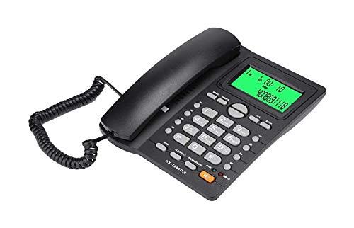 gujiu Teléfono con Cable de Vintage, teléfono Fijo de Escritorio con identificación de Llamadas Muestre la función de Silencio, teléfono Fijo con Cable para el hogar Oficina de Negocios (Negro)