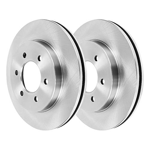 AutoShack R64101PR Pair of 2 Front Driver and Passenger Side Disc Brake Rotors...