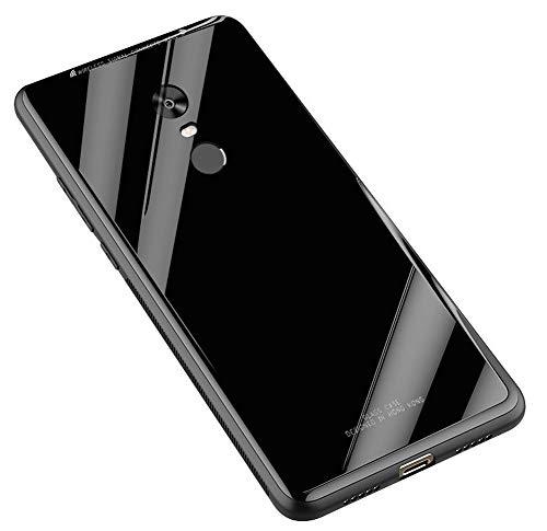 Kepuch Quartz Case Capas TPU &Voltar (Vidro Temperado) para Xiaomi Redmi 5 Plus/Redmi Note 5 - Preto