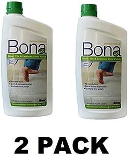 2 PACK BonaKemi WT760051161 32-Ounce Stone, Tile and Laminate Floor Polish