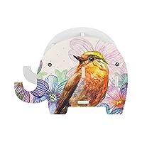 象 鉛筆立て ペン携帯 スタンド 鳥柄 水彩画 花柄 筆差し筆立て 象立て 置き台 木製 小物入れ 携帯電話ホルダー ペンスタンド ペンたて 卓上収納 オフィス用品 多機能 入学祝い 事務用品