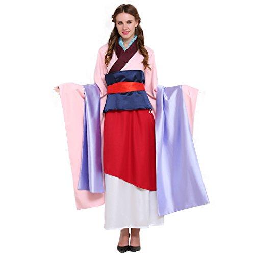 Fortunehouse Vestido chino Mulan Cosplay Disfraz Princesa Vestir Traje Para Halloween