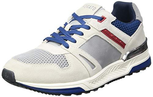Antony Morato Sneaker Treck Running IN Nylon E CAMOSCIO, Oxford Plano Hombre, Crema, 42 EU