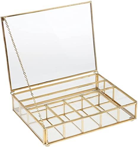 LUBINGT Caja de Cristal Mini Cristal Caja de terrario de Cristal Pote Maceta suculenta Planter Planter Decoración de la casa- 20x15 x 5 cm (Size : 20 x 15 x 5 cm)