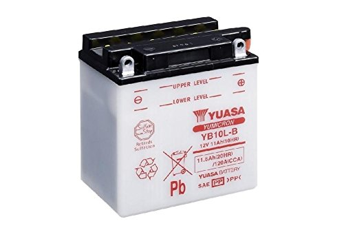 Batterie YUASA YB10L-B, 12V/12AH (Maße: 136x91x146) für Gilera Runner 200 VXR Baujahr 2004
