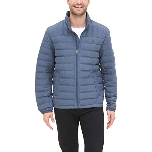 Tommy Hilfiger Men's Classic Hooded Puffer Jacket (Standard and Big & Tall), black, X-Large Tall