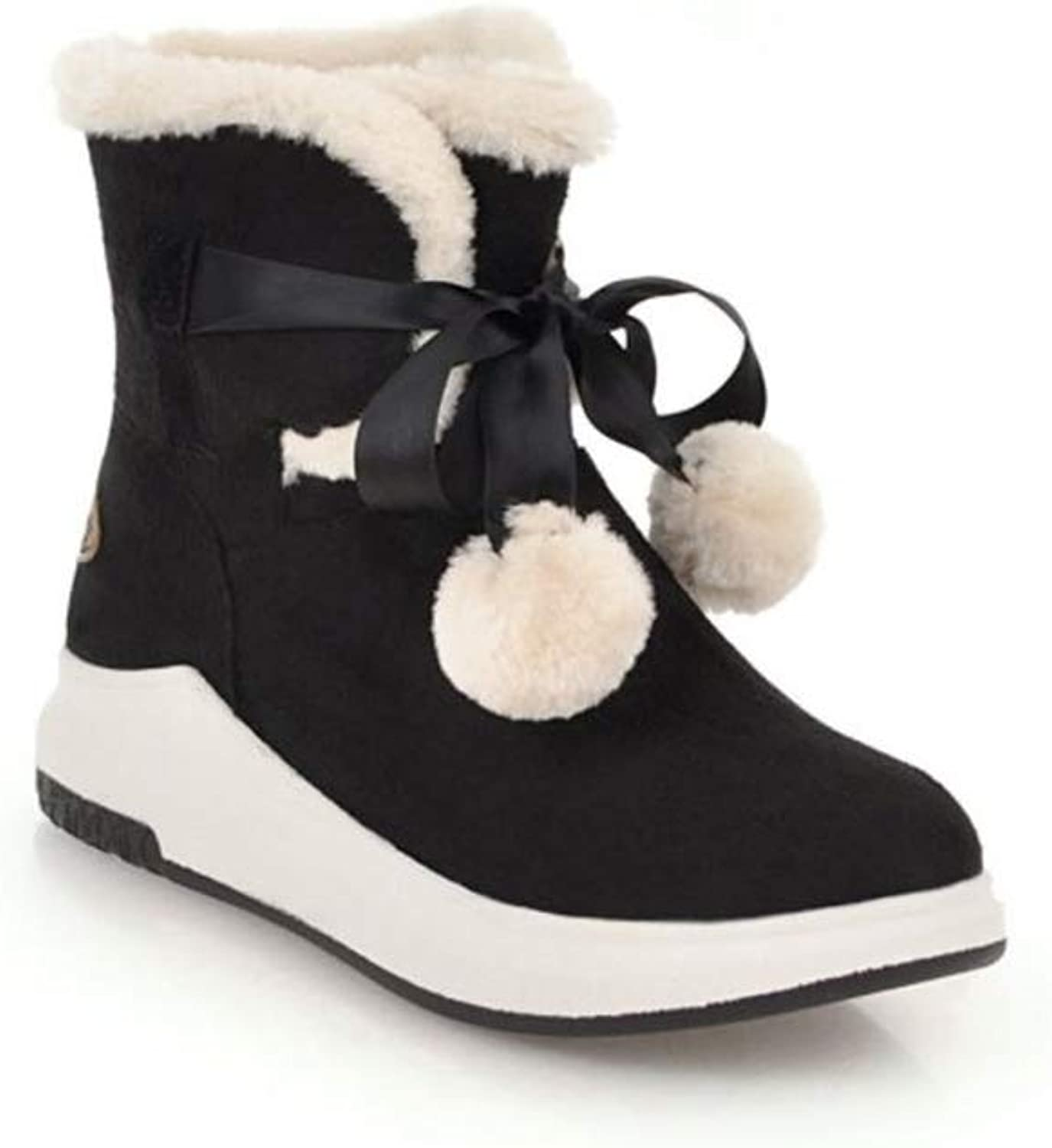 Gusha Winter Women's Boots Warm Booties Casual shoes Thick Snow Boots