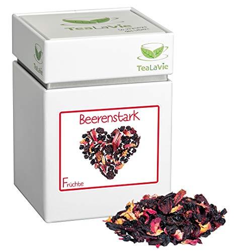 TEALAVIE - Früchtetee lose | Beerenstark - fruchtige Waldbeeren mit Vanille | 110g Dose loser Früchte Tee