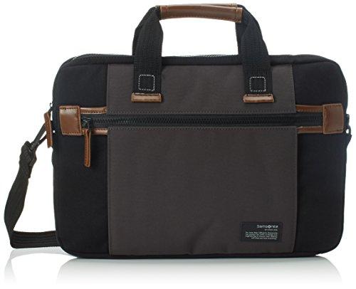 "Samsonite Sideways Laptop Sleeve 15.6"" Bolso Bandolera, 8.9 Litros, Color Negro/Gris"