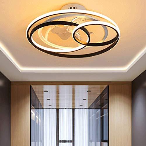 Beeki Ventilador de techo de lujo con ventilador de techo ligero con iluminación LED LED Invisible Ventilador Luz Ajustable Dormitorio Ventilador Luz Techo Luz Dimmable Sala de estar Luminaria Control