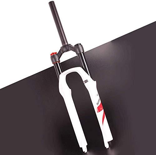 ZHTY Horquilla de suspensión para Bicicleta MTB 26/27.5/29 Pulgadas XC Air Spring Tubo Recto 1-1/8'Bloqueo Manual Recorrido 140 mm Eje de Freno de Disco 9 mm QR Horquilla Delantera para Bicicleta H