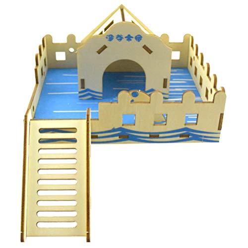 Yurika ハムスター ハウス 木製 小動物ハウス おもちゃ 家小屋1階建て DIY ハウス 遊具?あそび道具 キット ハムスターケージ 3D立体別荘 運動不足解消 組立式ドールハウス ペット 遊び場ド 豪華 遊び巣 (タイプ5)