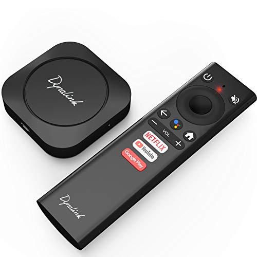 Dynalink Caja de Android TV, reproductor multimedia de transmisión inteligente de la ayuda 4K HDR de Android 10
