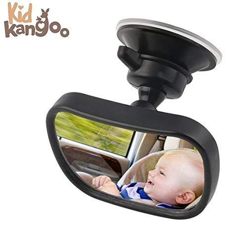 Espejo retrovisor coche. Vigilar al bebé en el coche. Ajustable para el...