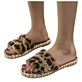 Gibobby Slippers for Women,Women's Fashion Casual Fuzzy Lightweight House Slippers Slip On Open Toe Cozy Indoor Outdoor Slippers