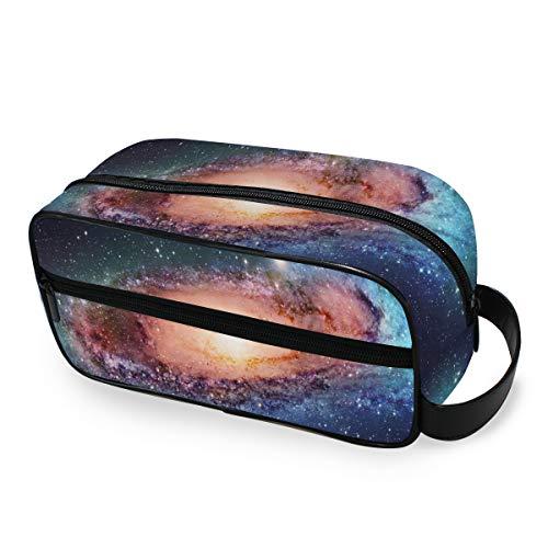 Portable Travel Toiletry Bag,Space Galaxy Best Dopp Kit Cosmetic Organizer for Men Women Bathroom Shower Shaving Bags Waterproof Bag- Mens Toiletry Bag - Travel Mens Gifts