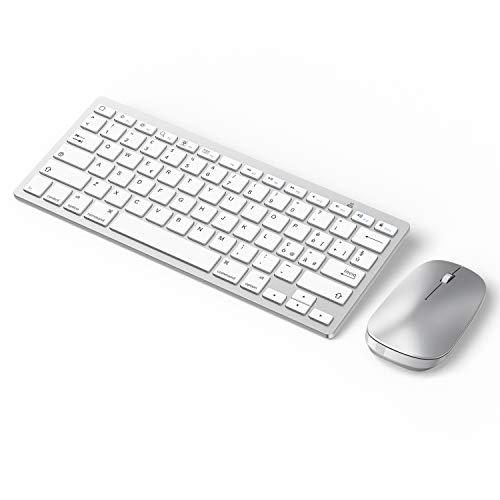 set mouse e tastiera OMOTON Set di Tastiera Bluetooth e Mouse Compatibile con iPad/iPad PRO/iPad Air/iPad Mini/iPhone (supportati iOS 13 e successiva)-Layout Italiano