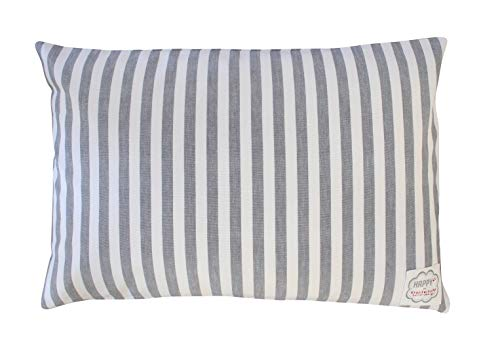 Krasilnikoff Kissenbezug 40x60 Charcoal Big Stripes Zierkissenbezug Kissenhülle Baumwolle CC3015