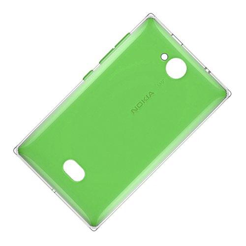 Nokia Asha 503Copribatteria Originale Verde Chiaro della batteria coperchio Back Cover Copribatteria batteria con patta con guscio