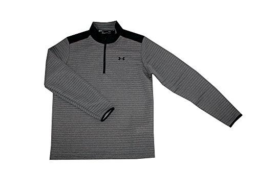 Under Armour Men's Athletic Zip Long Sleeve Golf Shirt (Grey, M)