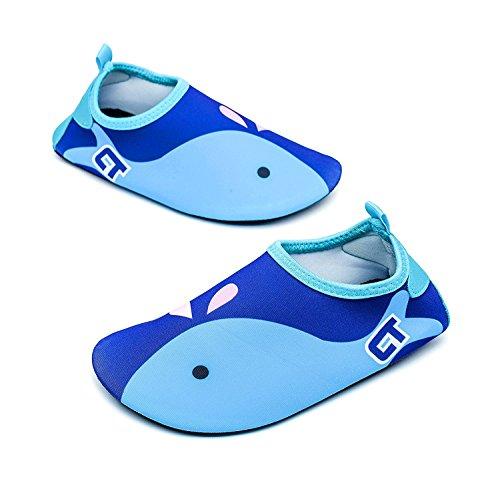 Tkiames Niños Zapatos de Agua descalzo Barefoot Respirable Calcetines de natación Aire Libre Piscina de Playa Surf Yoga Calzado