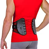 BraceAbility Spine Sport Back Brace - Athletic Men's and Women's Workout Lumbar Corset for Exercising, Running, Golfing, Driving, Fishing, Active Nurses and Police Work (Large)
