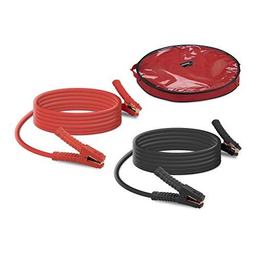 MSW Cavi Batteria Auto Cavo Avviamento Automobile MSW-BC1500/50 (2 x 6 m, 1500 A, 12/24 V, PVC, Rame, Rosso/Nero)