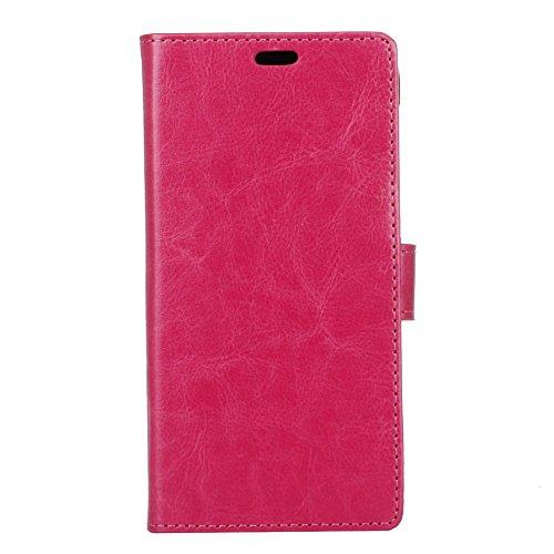 jbTec Handy Hülle Hülle passend für Wiko View XL - Handyhülle Schutzhülle Phone Cover Tasche Handytasche Zubehör Smartphone Klapphülle Flip Schutz, Farbe:Pink