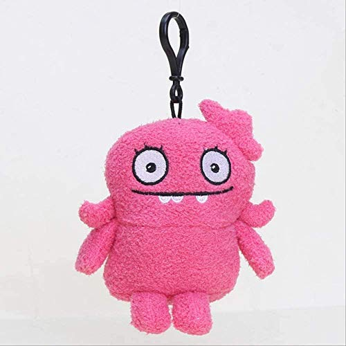 NC56 Uglydolls Keychain Ox Moxy Uglydog BABO Wage Puglee Dave Soft Stuffed Plush Toys Keyring Pendants 10-12cm Rose red