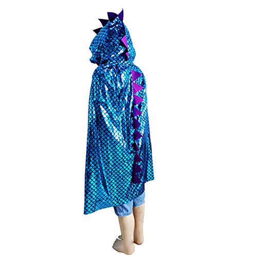 YZZ Unisex-kind dinosaurus Cape mantel hoodied cosplay halloween kerst kostuum