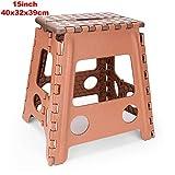 LKU Klapphocker Erwachsene Kinder Küche Kunststoffgriff tragbarer Stuhl rutschfestes Badezimmer, C.