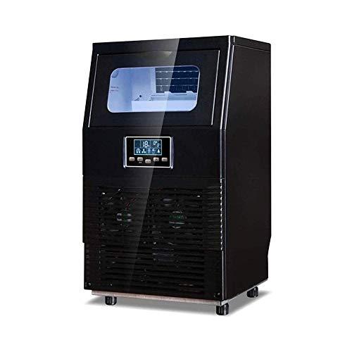HIZLJJ Eiswürfelmaschinen, Gewerbe Eisherstellermaschine freistehende Pfund Speicherkapazität - Ideal for Restaurants Bars Wohnungen und Büros - Mit Schaufel und Verbindungsschlauch