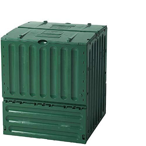 Yerd Geschlossener Schnell-Komposter 600 Liter: ECO-King, grün, aus 100{a49e2966f95a40272e05b83370f6f1f33a436fb9aa95b8253cc0b85bad2e9979} recyceltem PP, Made in Germany