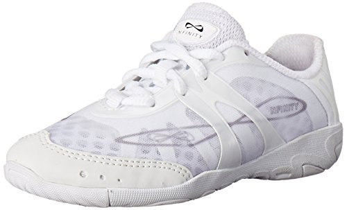 Nfinity Vengeance Cheer Shoe - Women & Youth Competition Cheerleading Gear, White, 6.5