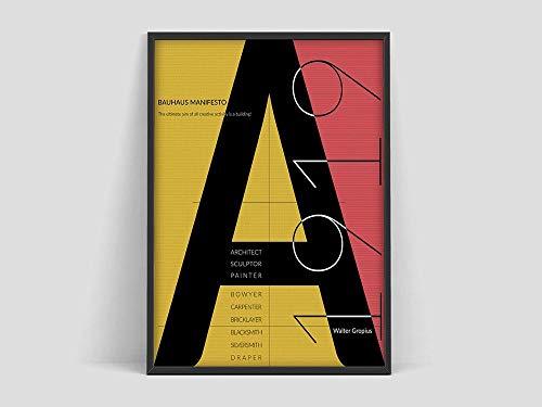 Póster de la Bauhaus, Weimar 1923, impresión de la exposición de la Bauhaus, póster de Herbert Bayer, impresión de la Bauhaus, pintura en lienzo sin marco O 50x70cm