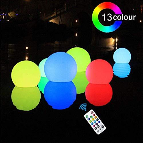 Wangyan 123 15.7in LED Light Ball Aufblasbare kabellose schwimmende Poolleuchten Pool Party Dekoration