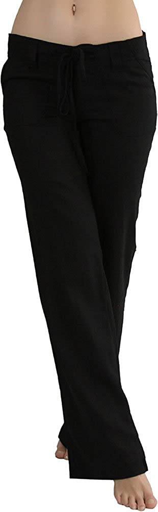 ToBeInStyle Women's Comfy Casual Rayon Blend Pants with Drawstring Waist