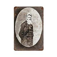 2個 レトロ メタル ブリキ サイン 1859 ジョン ブラウン ポートレート 8 X 12 インチ ビンテージ アート ポスター プラーク メタルプレート レトロ アメリカン ブリキ 看板